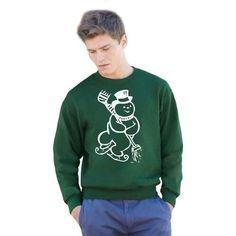 Green Christmas Present Jumper White Sno...