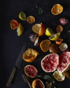 Citrus rinds by Andrea Gentl - stunning colors - a modern still life.