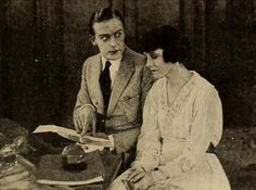 Wallace Reid and Ora Carew in Too Many Millions, Film Fun, January 1919. Internet Archive.