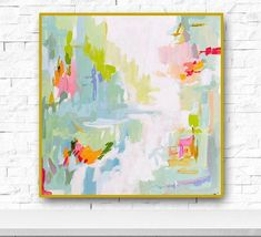 Modern Art Print Abstract Print 55 to 2424 pink lime aqua marendevineart Canvas Art, Canvas Prints, Art Abstrait, Modern Art Prints, Modern Wall, Original Paintings, Art Paintings, Modern Paintings, Art Auction