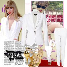 """""""Taylor Swift at the VMA'S !!!!"""" by vampirelover7100 ❤ liked on Polyvore"""