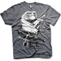 Hybris E. - Biking distressed unisex T-shirt donker grijs - Film merchandise Mode Geek, Harry Potter, One Piece, God Of War, Geek Stuff, Bike, Mens Tops, T Shirt, Naruto