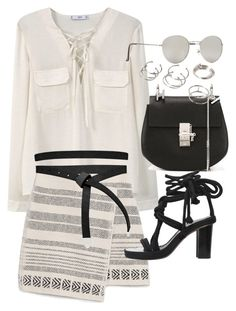 """Untitled #19919"" by florencia95 ❤ liked on Polyvore featuring MANGO, Zara, ASOS, Chloé, Isabel Marant and Forever 21"