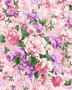 eQuilter Kaffe Fassett's Quilts in the Cotswolds Vintage Flowers Wallpaper, Flower Wallpaper, Flower Backgrounds, Wallpaper Backgrounds, Wallpapers, Bouquet, Printable Scrapbook Paper, Arte Floral, Decoupage Paper
