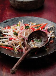 Coconut and Chili Kerabu Salad: My version is all raw, so it's super quick to make. It tastes fantastic with any grilled meat or fish and works beautifully with a creamy S.E. Asian curry. # salad #coconut