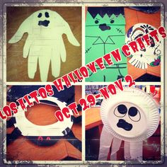 Ghastly crafts for children all week at Los Altos from 2-3 pm!     *Reminder: Preschool Story Time begins at Los Altos 11/1 @ 10:30am.