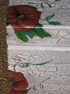 recetas plantas y reflexiones: caja de madera con decoupage y craquelado paso a paso