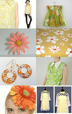 Mod Blooms by chickyandbean on Etsy--Pinned with TreasuryPin.com