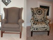 Re-upholster a wing back chair