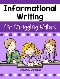 This pack will help your struggling students to better understand the structure and basic elements of an informational text. It provides basic instructions and graphic organizers for writing a book or article that includes an introduction, 3 subtopics, and a conclusion.