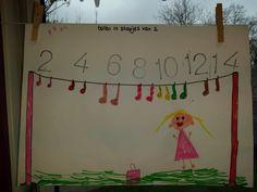 Tellen in sprongen van 2 Early Years Maths, Kindergarten Themes, 31st Birthday, 1st Grade Math, Math Classroom, Classroom Ideas, Counting In 2s, Schmidt, Activities For Kids
