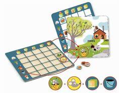 In, under, over, front, back. Dov'è il ranocchio? E' dentro il secchio. E l'orso? E' davanti all'albero. Ritrova la posizione dei 5 animali rispetto ai 5 elementi del paesaggio. Un gioco divertente per imparare i concetti di dentro, sotto, sopra, davanti e dietro. Con 24 schede da interpretare. Puoi acquistare questo gioco in legno prodotto da #Djeco su http://www.giochiecologici.it/p/944/leggere-limmagine