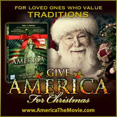 Christmas Tradition #2: Santa Claus. Facebook Christmas campaign for the Dinesh D'Souza film, AMERICA: Imagine the World Without Her.