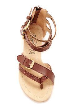 Modern Rebel Brown Boho Buckle Sandals