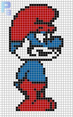 8-bit papa smurf grid - Google Search
