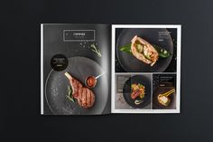 """Menu for the restaurant """"Ginza"""" on Behance . Cafe Menu Design, Food Menu Design, Restaurant Menu Design, Drink Menu, Food And Drink, Menue Design, Drink Recipe Book, Food Graphic Design, Menu Book"""
