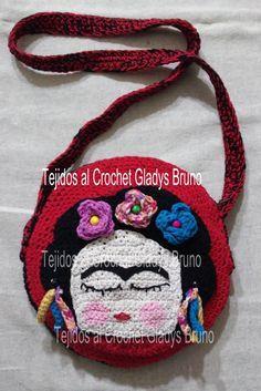 Frida Kahlo Cartera Tejida Al Crochet - $ 350,00 en MercadoLibre