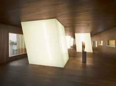 Light shafts, interior    Archaeology Museum of Álava  Mangado and Associates  Vitoria, Spain