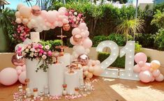 birthday decorations Birthday set up balloons by Quirky balloons 21st Birthday Themes, 21st Bday Ideas, Birthday Goals, 22nd Birthday, Birthday Balloon Decorations, Birthday Balloons, Deco Ballon, Pink Balloons, Dark