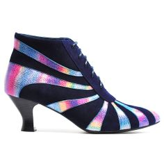 UBELL | Cinori Shoes #laceupboots #booties #ankleboots #midheel #bright #holographic #classic #quirky #djangojuliette #cinori