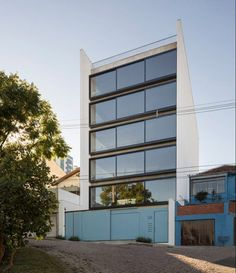 Apartment building in Brazil with sliding windows