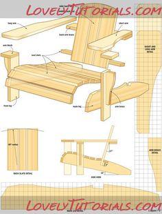 Adirondack chaise lounges plans woodworker adirondack chair plans a double adirondack - Plan de chaise adirondack gratuit ...