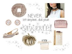 """""""Never Dull Your Sparkle"""" by poepoepurses ❤ liked on Polyvore featuring Wall Pops!, Accessorize, Sephora Collection, Chloé and Clare V."""