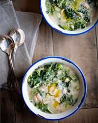 Cannellini and Escarole Soup with Garlic Oil. This sounds so delicious!
