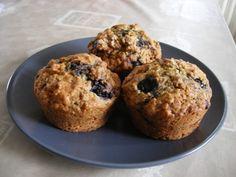 Muffins aux flocons d'avoine et myrtilles