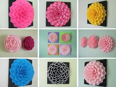 Felt Flower Wall Art Pattern SOPHIA FLOWER Fabric Flower Wall
