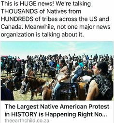 Indigenous United against Dakota Access Pipeline! The largest Native American…