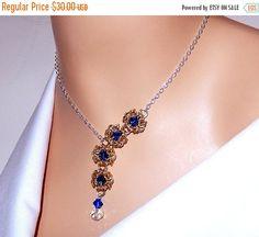 Chainmaille collar, collar, collar de chainmaille romanov bizantina con elementos de Swarovski, collar de cristal, regalo para ella