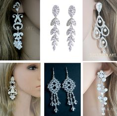 Kolczyki z oryginalnymi kryształkami, cyrkoniami i perełkami. Pięknie błyszczące. Biżuteria na wyjątkowe okazje. Decoris & Art. poleca również naszyjniki, bransoletki, broszki wisiorki oraz ozdoby do włosów.