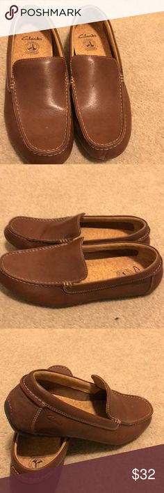 Men Clark loafers Men Clark's  loafers Caj Clark LTD TOR England nice shoe  scratched a little on both tips of the shoes not noticeable as is size9.5 a great price. Clarks Shoes Loafers & Slip-Ons