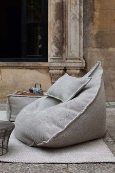 Do not let the simple form of the Sail Pouf fool you; once you sit in it, you may never want to get up. With this pouf, your body will be cocooned in a soft tex