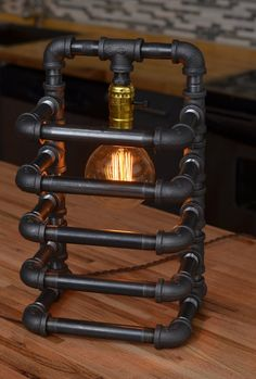 Cage Steam Punk lampe tissu tressée par EdisonRX sur Etsy