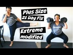 Plus Size 21 Day Fix Extreme - Modify - Weightloss - YouTube