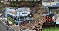 Help the restoration & become part of this rock and roll legend | Check out 'The 1972 Wings Tour Bus' on Indiegogo. Wings Tour, Rock And Roll, Restoration, Tours, Check, Crafts, Manualidades, Rock Roll, Rock N Roll
