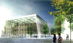 HAO / Holm Architecture Office proposal for the Daegu Library competition. It is situated in the heart of city of Daegu, in South Korea.