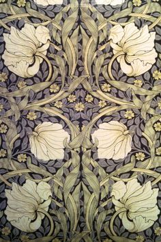 ruebella-b: Pimpernel wallpaper designed by William Morris...