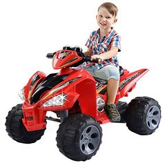 Kids Ride On ATV Quad 4 Wheeler Electric Toy Car 12V Battery Power Led Lights * Click image to review more details.Note:It is affiliate link to Amazon.