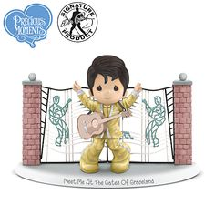 Precious Moments Meet Me At The Gates Of Graceland Figurine