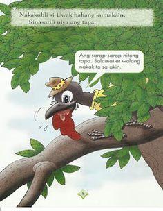 Teacher Fun Files: Si Uwak at si Asong Gubat Short Stories For Kids, Kids Stories, Visual Aids, Borders For Paper, Kids Story Books, Picture Cards, Kindergarten Teachers, Reading Material, Best Teacher