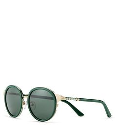 Statement shades, seen on our spring runway: Tory Burch Marais Sunglasses