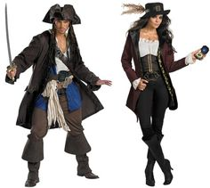 Couples Pirates of Carribean Captain Jack Sparrow and Angelica Adult Costume | eBay