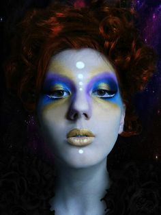 alien makeup | Alien makeup blue with gold