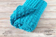 Babydecken - Kocyk bąbelki, turkusowy, 70x90 cm - ein Designerstück von Mayalove- bei DaWanda Crochet Toys, Crafts To Make, Etsy, Handmade, Decor, Hand Made, Decoration, Decorating, Handarbeit
