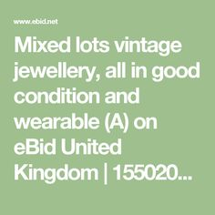 Mixed lots vintage jewellery, all in good condition and wearable (A) on eBid United Kingdom | 155020537 https://www.ebid.net/uk/for-sale/mixed-lots-vintage-jewellery-all-in-good-condition-and-wearable-a-155020537.htm