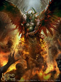 Artist: Choi Yongjae aka indus - Title: Satan - Card: Satan, Lord of the Wicked