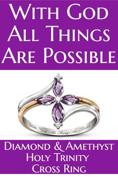 cross ring for women love this sparkling amethyst and diamond cross ring the inside
